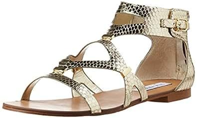 Steve Madden Women's Comly Gold Snake Sandal 6 M