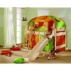 spielbett hochbett kinder spielbetten mit rutsche. Black Bedroom Furniture Sets. Home Design Ideas