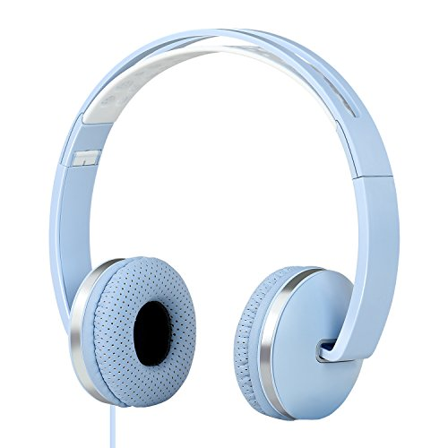 Tauren Ultimate Sport, Workout Headphones 3.5mm for iPhone, iPod, Android with Amazing Sound plus Powerful Bass,Soft Sweat Proof Earpads, Controls on Cable (Blue)