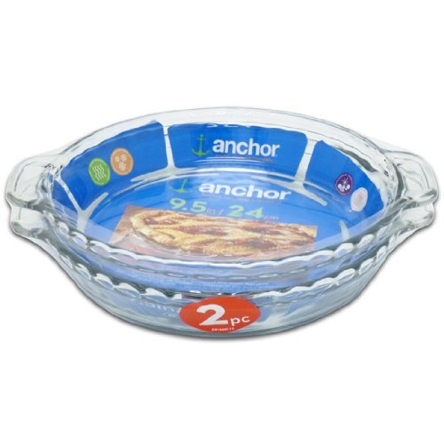 Anchor Hocking 9 5 Quot Clear Glass Deep Pie Plate Set Of 2