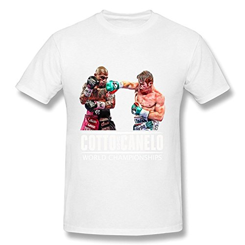 ZEKO Men's T-shirt Miguel Cotto-Canelo Alvarez-world Championships 5 Size L White (Kitchenaid Toaster Oven White compare prices)