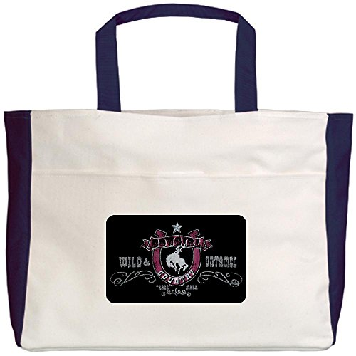 Royal Lion Beach Tote (2-Sided) Cowgirl Country Wild and Untamed