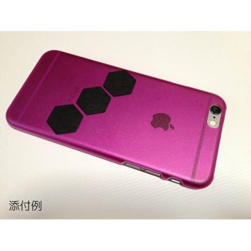 iPone6 選べる10色の ハードケース クリアーケース つや消しカラー ポリカーボネート 0.9mm 薄型カバー すべらない強力グリップシールのグリフォンお試しで付いてます (フロストパープル)