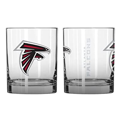 NFL Atlanta Falcons Elite Rocks Glass Set (2-Pack), 14-Ounce