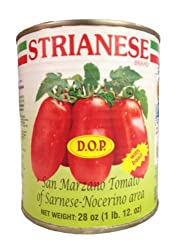 Strianese Italian DOP Whole San Marzano Tomatoes 28 oz. Can