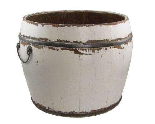 Antique Revival Vintage Benton Bucket, White