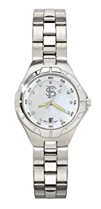 Florida State Seminoles FSU NCAA Pearl Ladies Bracelet Watch With Mop Dial by NCAA Officially Licensed