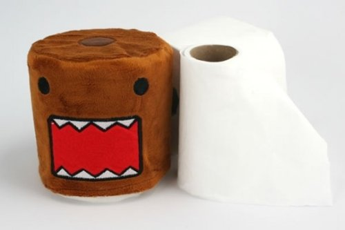 Domo Cartoon Toilet Paper Cloth Fabric Cover - 1