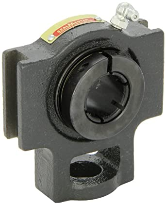 "Sealmaster ST-12T Take-Up Unit, Standard Duty, Regreasable, Skwezloc Collar, Felt Seals, Cast Iron Housing, 3/4"" Bore, 17/32"" Slot Width, 3"" Between Frames"
