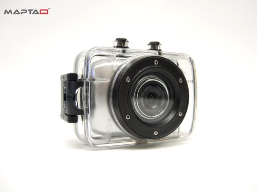 MAPTAQ HD Videokamera Mini-Q 72HD Sport-Action, silber, 25304