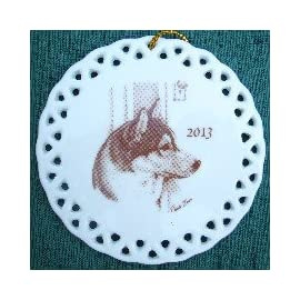 Laurelwood 2013 Siberian Husky Ornament