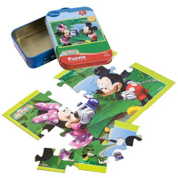 Disney Mickey Mouse Puzzle in a Tin - Minnie Taking Mickey's Photo