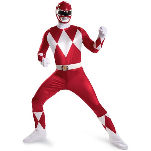 WMU - Men's Costume: Red Ranger Super Deluxe Plus Size