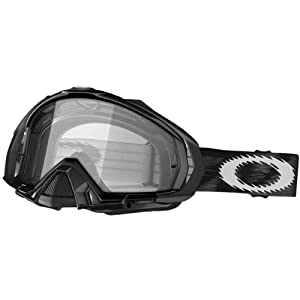 Oakley Mayhem MX Adult Dirt Motocross Motorcycle Goggles Eyewear - Jet Black/Clear, Dark Grey / One Size Fits All