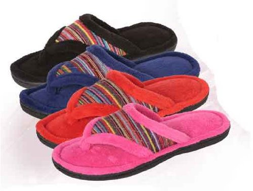 Ddi 1471509 Wholesale Womens Slipper-Flip Flops With Colored Stripes Case Of 36 front-1013341