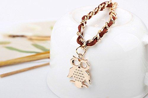 winters-secret-adjustable-personality-owl-pendant-brown-hand-knitting-heart-link-bracelet