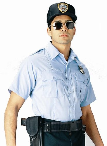 Light Blue Offical Law Enforcement Uniform Short Sleeve Shirt 30025 Size Large
