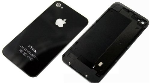 VETRO POSTERIORE COPERCHIO BACK COVER GLASS IPHONE 4s NERO in bulk pack+ GIRAVITE TORX in bulk pack