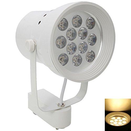 Great Value Other Lights 12W 12 Leds 1000-1200Lm 3000-3200K Warm White Car Aluminum White Shell Horn Spotlight (85-265V)