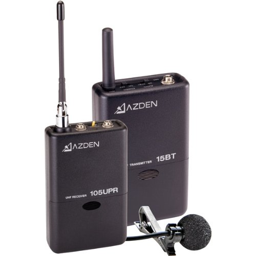 Brand New Azden Wireless Uhf Lavalier Microphone System
