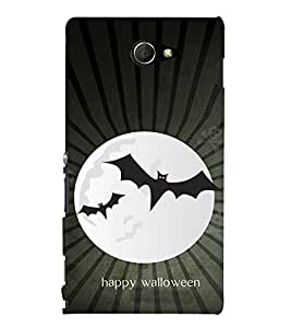 EPICCASE happy walloween Mobile Back Case Cover For Sony Xperia M2 (Designer Case)