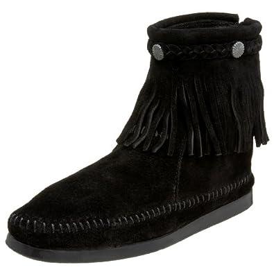 迷你唐卡 Minnetonka 女士经典流苏软皮短靴 Women's 299 Back-Zip 2色$51.74