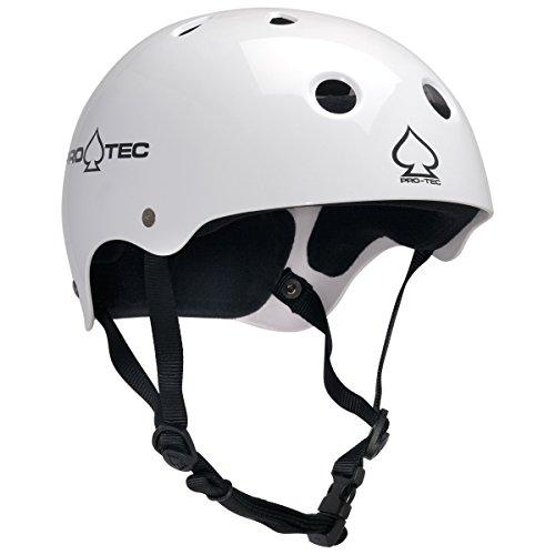 PROTEC Original Classic Skate Helmet, Gloss White, Large