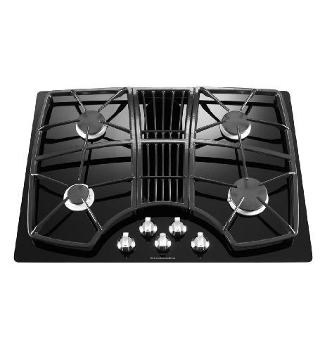 KitchenAid Architect II 4-Burner Downdraft Gas Cooktop (Black) (Black Gas Cooktop compare prices)