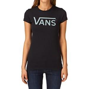 Vans Damen T Shirt Allegiance Tee, Black/Green Ash, L, VNW89JS