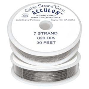 acculon beading wire tigertail 7 strand 020 dia