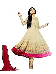 Universal Creation bollywood fancy Cream semi-stitched Dress material