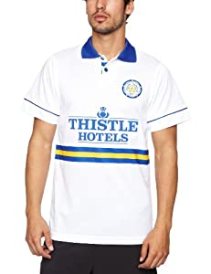 Score Draw Official Retro Leeds United 1994 Men's Retro Football Shirt - White, Small