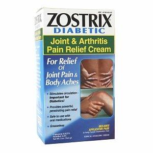 Zostrix Diabetic Joint & Arthritis Pain Relief Cream w/Applicators 2oz