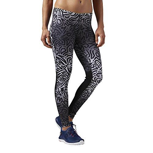 Pantaloni formazione delle donne Reebok in corso collant Essentials, Ash Grey, 2XS, AJ0425