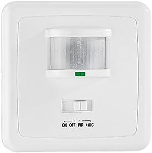 revolt automatischer lichtschalter mit bewegungsmelder sound sensor baumarkt. Black Bedroom Furniture Sets. Home Design Ideas
