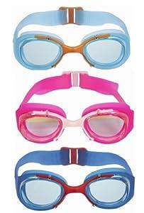 Nabaji - Gafas de natación infantiles (antivaho, protección UV 100 %)