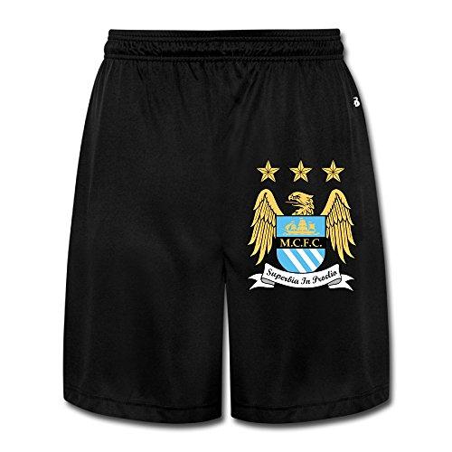 KathyB Manchester City Football Club 1 Men's Short Jogger Pants Black M