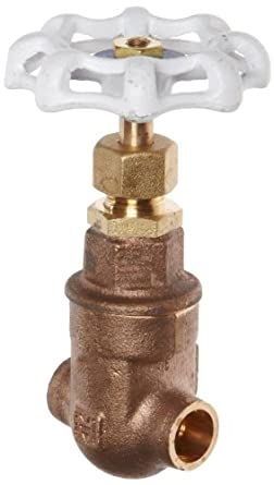 Milwaukee Valve UP115 Series Bronze Gate Valve, Potable Water Service, Non-Rising Stem, Solder End