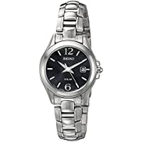 Seiko Women's SUT249 Solar Analog Display Japanese Quartz Silver Watch