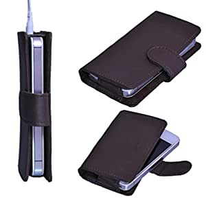 StylE ViSioN Pu Leather Pouch for Lava Xolo A500