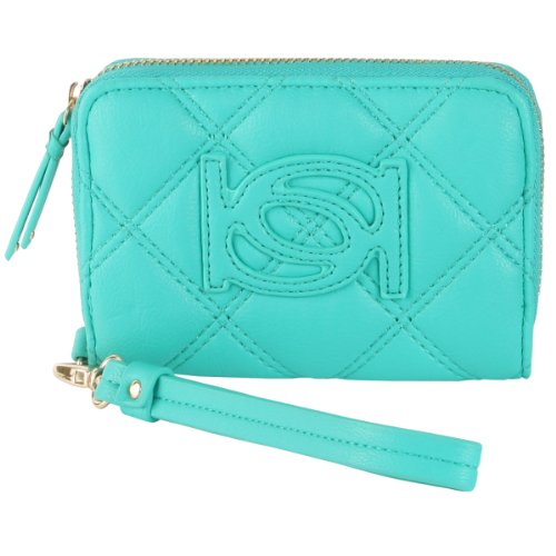 bebe-quilted-lily-wristlet-turquoise