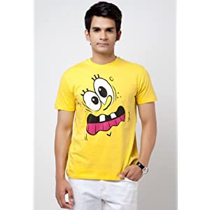 Sponge Bob T Shirts Yellow|M