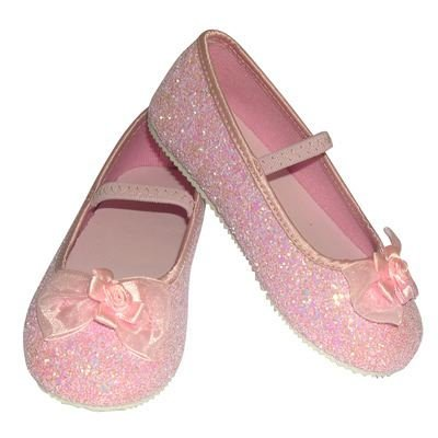 Pink Glitter Party Shoes - Kids Accessory 9 - 10 years