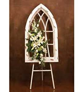 Amazon Com Napco Wood Gothic Cathedral Style Window Frame White Window Treatment Vertical