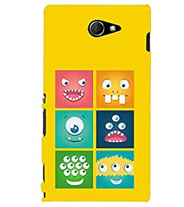Kingcase Printed Back Case Cover For Sony Xperia M2 Aqua - Multicolor