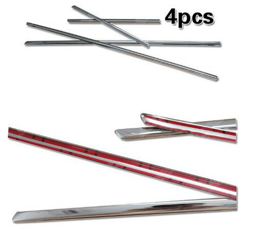 Auto Chrome Body Door Side Molding Trim Stainless Steel 4pcs Fit For 2008 2009 2010 2011 x5