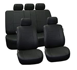 FH-PU002115 Classic Synthetic Leather Car Seat Covers, Airbag compatible and Split Bench from FH