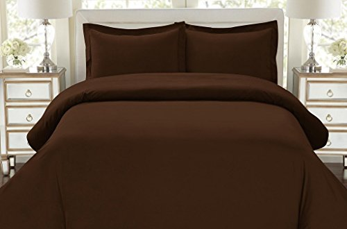 1500-Thread-Count-Egyptian-Quality-Duvet-Cover-Set-3pc-Luxury-Soft-All-Sizes-Colors-FullQueen-Chocolate-Brown