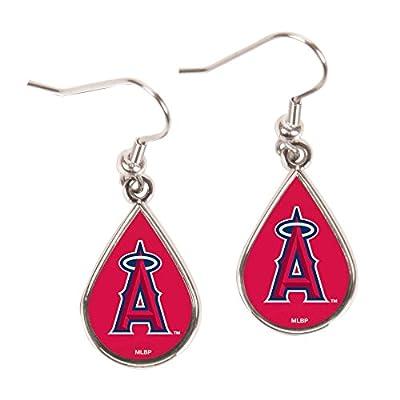 MLB Los Angeles Angels Tear Drop Earrings, Large, Multi