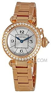 Cartier Miss Pasha Diamond Paved 18k Rose Gold Ladies Watch WJ124013